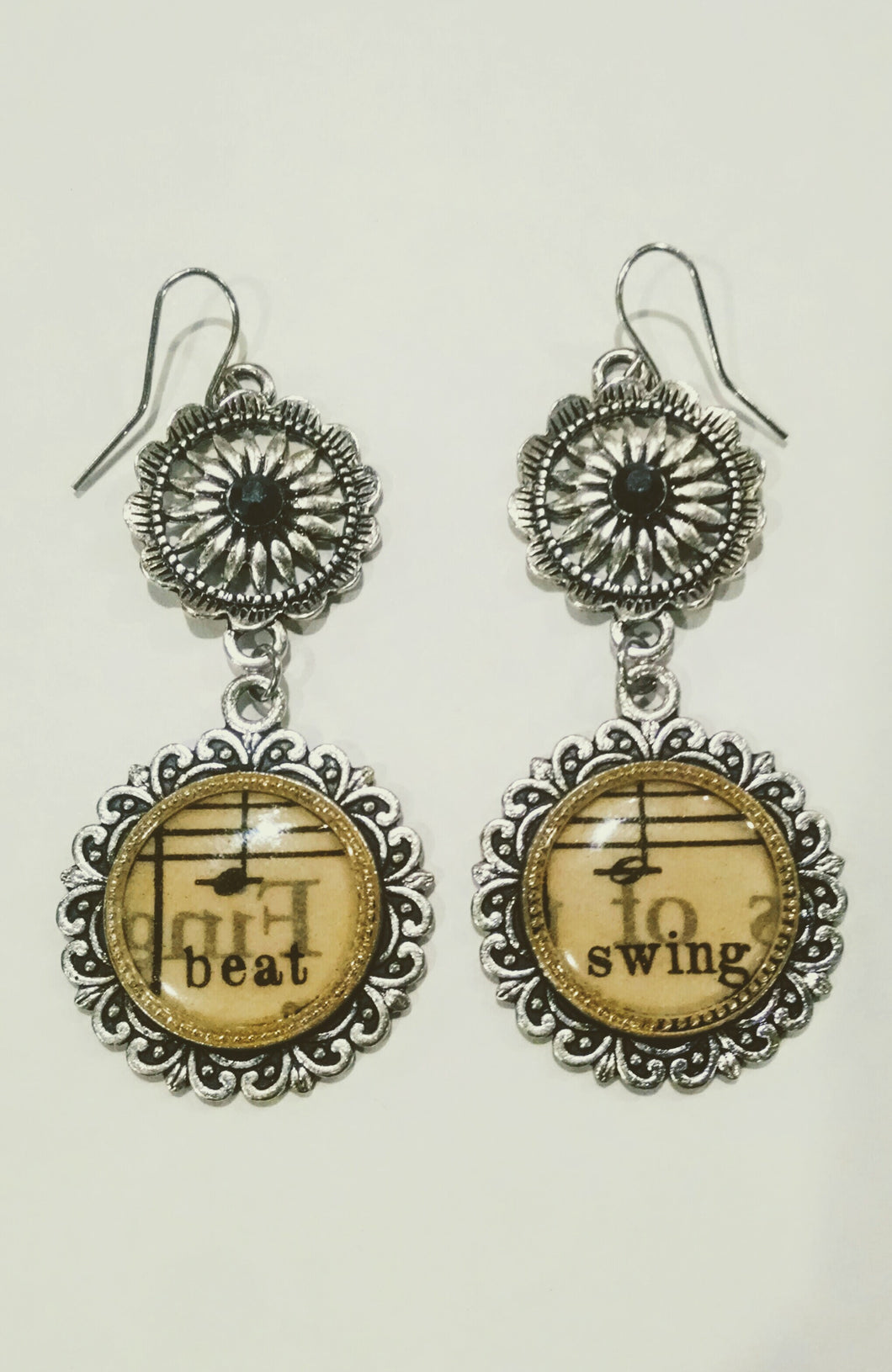 2-Tier Musical Note Earrings