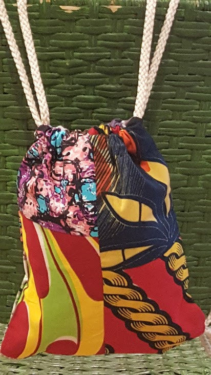Handmade Cloth String Backpack