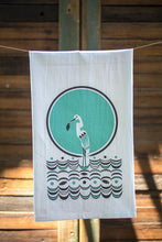 Flour Sack Towel - Egret on the Water