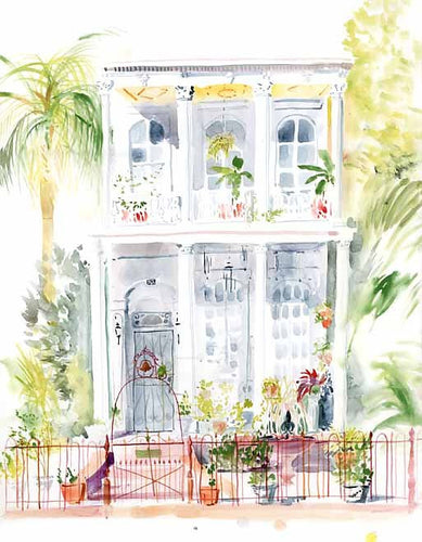 Esplanade House Watercolor Print
