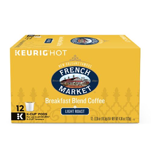 French Market Breakfast Blend Coffee Single Serve Cups