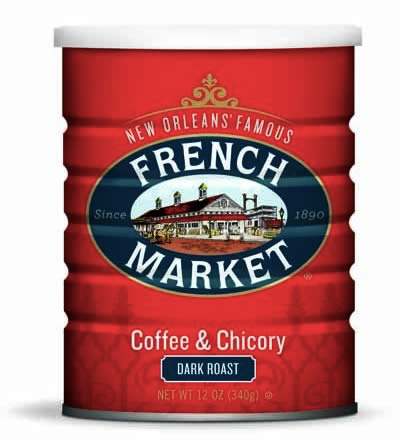 French Market Coffee Dark Roast Coffee & Chicory Can