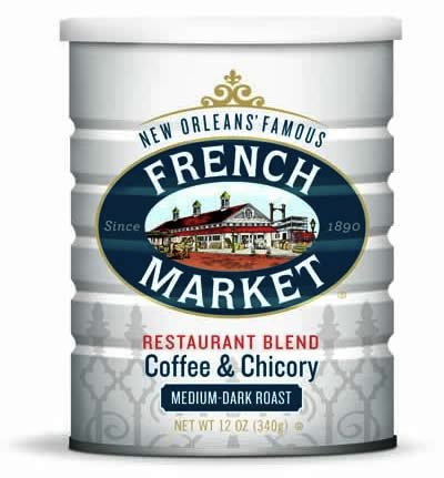 French Market Coffee Medium-Dark Roast Restaurant Blend Can