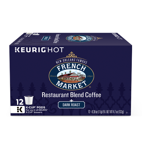 French Market Dark Roast Coffee Single Serve Cups