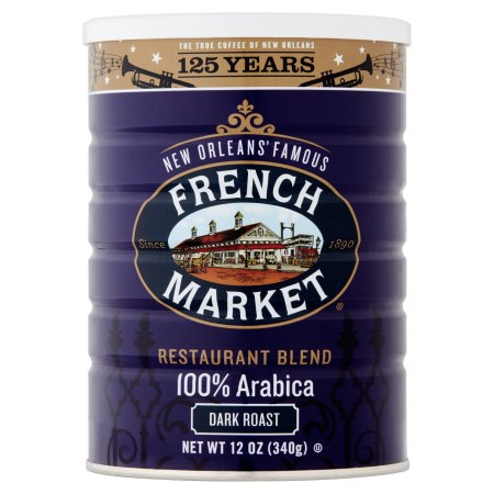 French Market Coffee Restaurant Blend Dark Roast Can