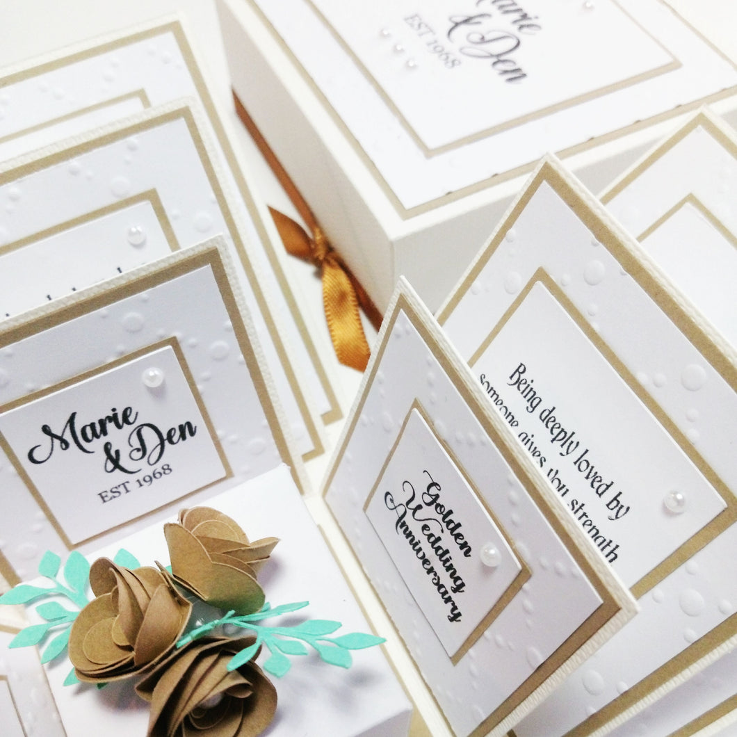 Exploding Anniversary Boxes ~ 50th Golden Wedding Anniversary ...