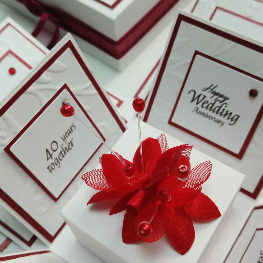Exploding Anniversary Boxes ~ 40th Ruby Wedding Anniversary ...
