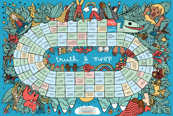 PLAYMAT TRUTH & DARE : ENGLISH VERSION OF ACTION & VERITE