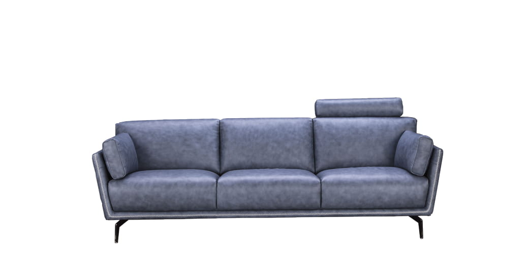 Collins Leather 3-Seater Sofa