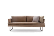 Giovanni's Slight Leather 3-Seater Sofa