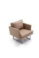 Giovanni's Slight Leather Armchair