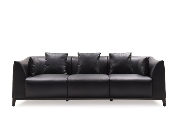 Keira Leather 3-Seater Sofa