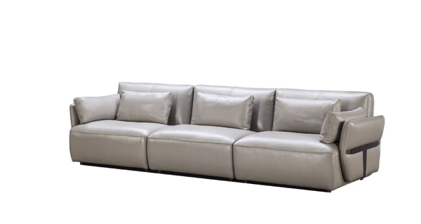 Oliver 3-Seater Leather Sofa