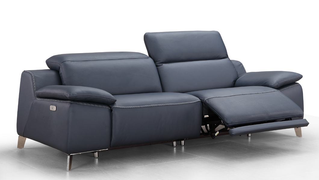 Oswin Leather Recliner 3-Seater Sofa