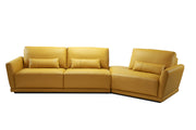 Carter Leather Curved Sectional Sofa