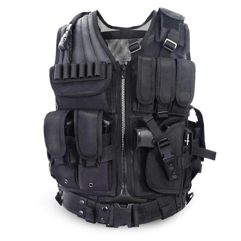 TACTICAL-TEAMS™ - HEAVY DUTY TACTICAL VEST ( ONE SIZE FITS MOST )