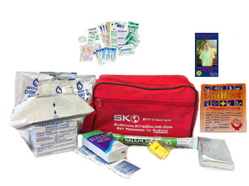 Earthquake, School, Work, Car Small Perfect Survival Kit for Emergency, Disaster