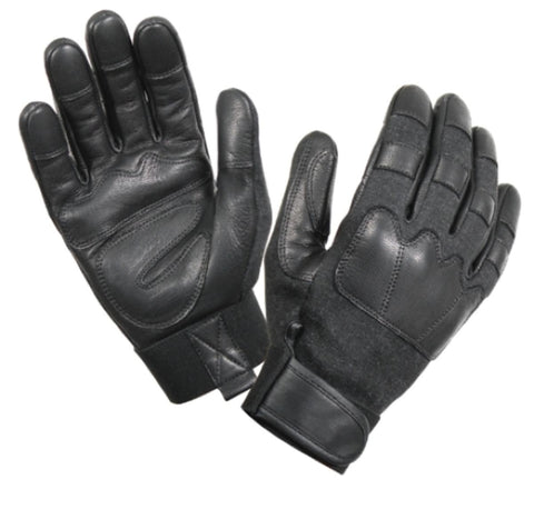 Cut and Flame Resistant Tactical Gloves in Black