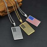 USA Flag Pendant Necklace