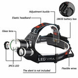 900000LM Rechargeable LED Headlamp Headlight with 18650 Batteries