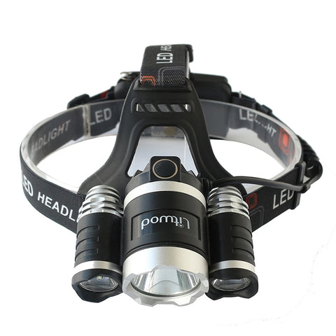 20000LM Rechargeable LED Headlamp Headlight with 18650 Batteries