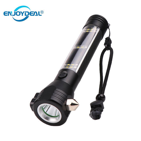 Solar Power 9-in-1 Ultrabright Flashlight