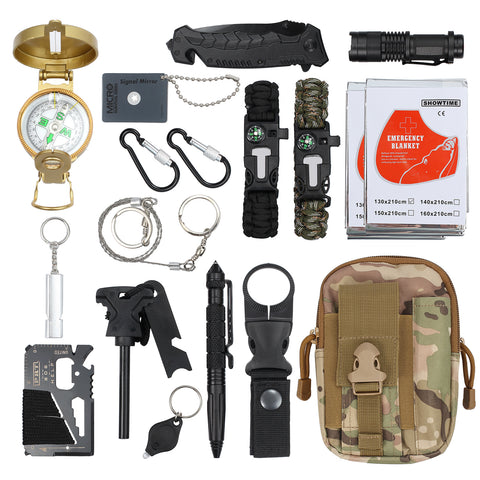 18-in-1 Survival Kit - Tactical Outdoor Emergency Gear [🇺🇸Shipped from USA]