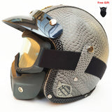Hot 2019 Leather Helmet - DOT Approved