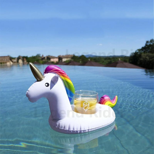 Happy Unicorn Oppustelig Drinks-holder,  - trendr.dk