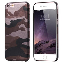 Læder Camouflage iPhone Cover,  - trendr.dk