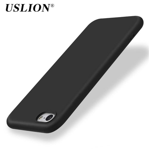 Basic Sort Silikone iPhone Cover,  - trendr.dk