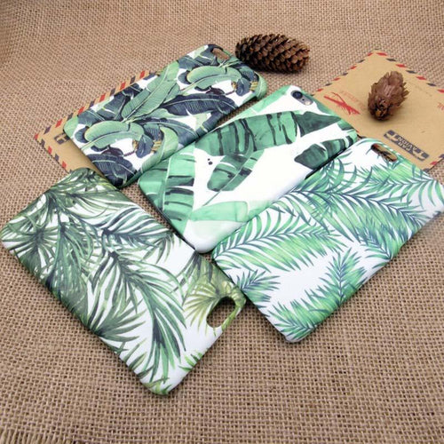 Hardcase Tumblr Palms n' Leafs iP 5+6+7 iPhone Cover,  - trendr.dk