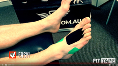 Video of How To Tape Plantar Fascia Heel Pain