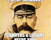 We Need Your Pop Up Caravan