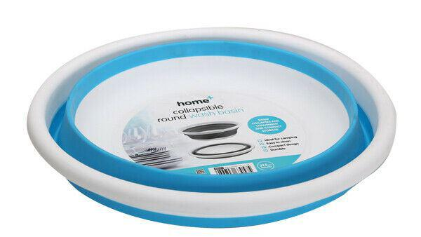 Quest Collapsible-wares 10L Round Wash Basin -Grey/White or Blue/White available-Quest-Campers and Leisure