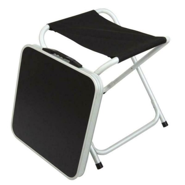CPL 2 in1 Black Stool/Table - Ideal for Motorhome Caravan Outdoor Camping-Crusader-Campers and Leisure