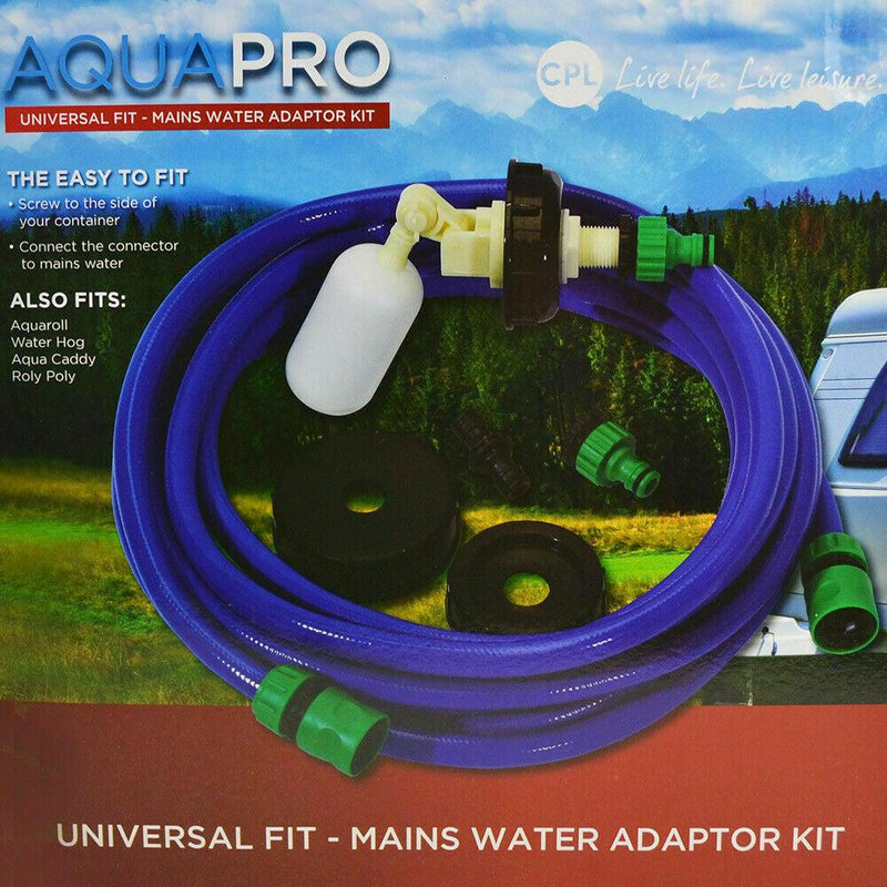 CPL AquaPRO Mains Water Adaptor Kit - Fits Aquaroll/ Water Hog/Roly Poly-Crusader-Campers and Leisure