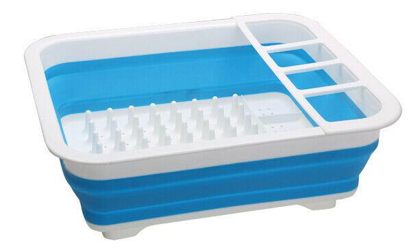 Quest Collapsible-wares Dish rack & drainer - Grey/White or Blue/White-Quest-Campers and Leisure