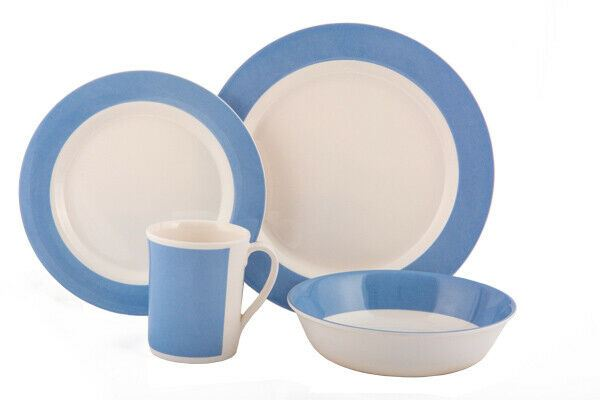 Quest Fresco 8 Piece Melamine Picnic ware Camping Dinner Set - Blue or Grey-Quest-Campers and Leisure