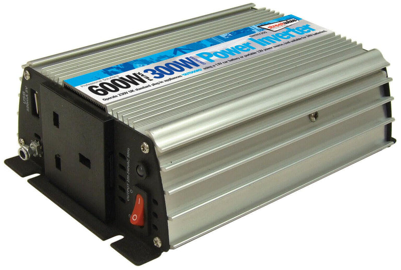 STREETWIZE 300W CONTINUOUS POWER/ 600W PEAK POWER INVERTER-Leisurewize-Campers and Leisure