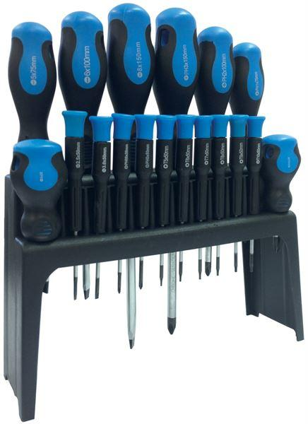 18 PCE CV SCREWDRIVER SET WITH STAND-Leisurewize-Campers and Leisure