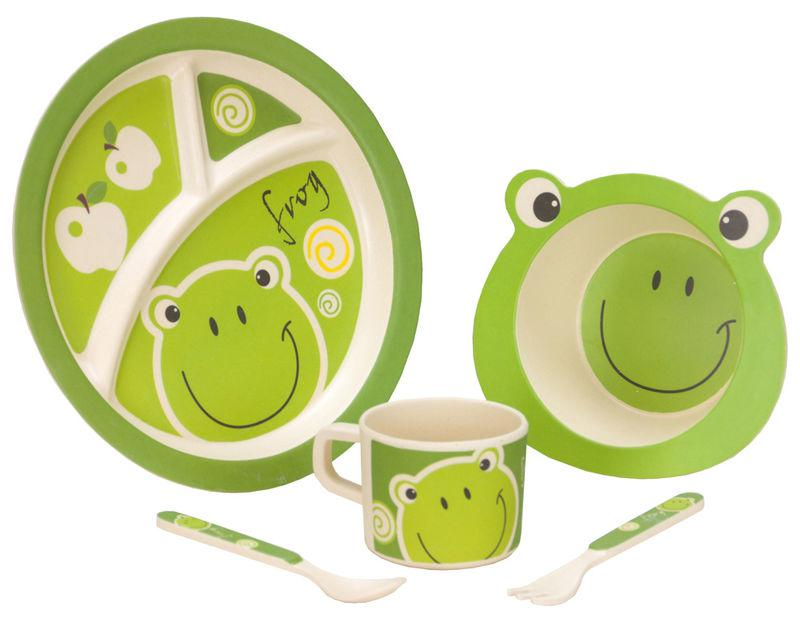 Vango Bamboo Tableware Set | Frog Kids Set-Vango-Campers and Leisure