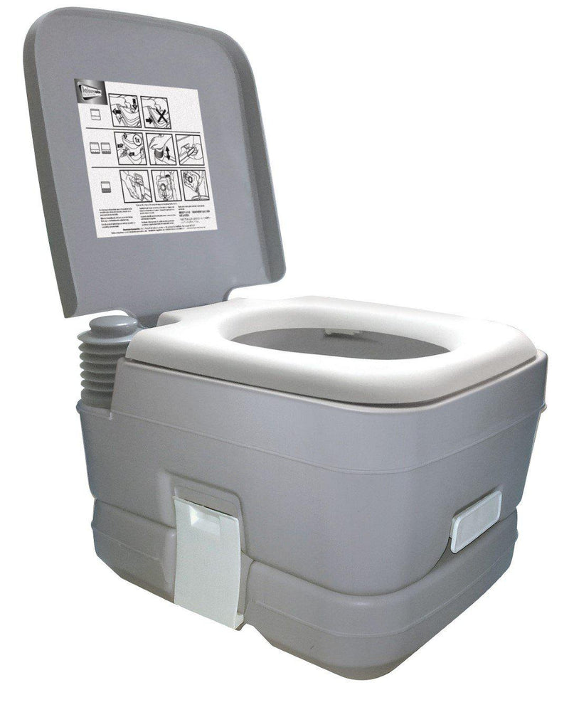 10L PORTABLE FLUSHING CAMPING TOILET-Leisurewize-Campers and Leisure