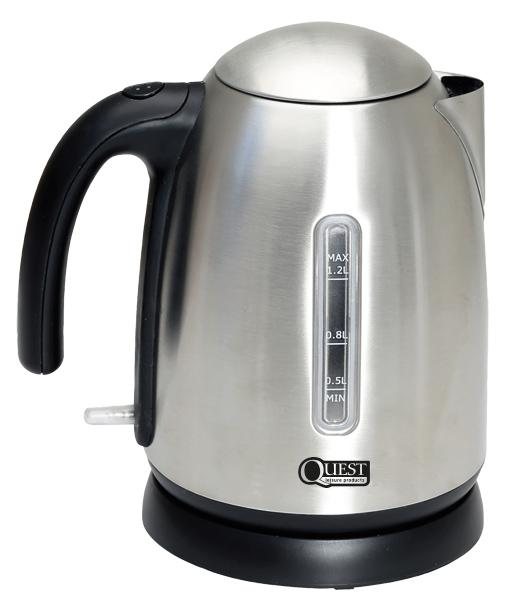 Quest 1.2L Low Wattage Stainless Steel Kettle-Quest-Campers and Leisure
