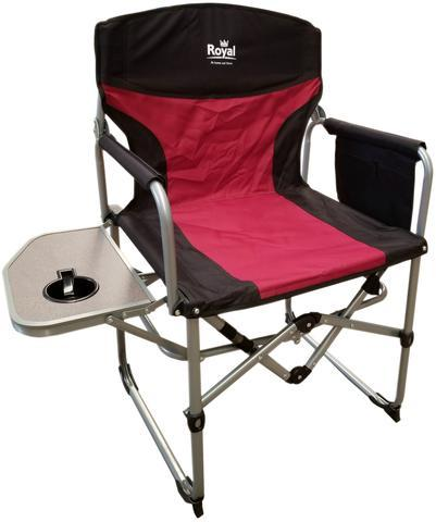 Royal Directors Chair - Burgundy-Crusader-Campers and Leisure