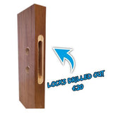 HP1G Clear Glass Walnut Internal Door