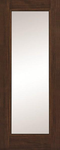 Daiken Walnut Single Panel Clear Glass Shaker Door