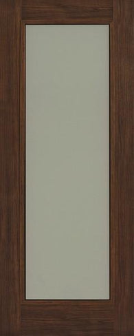 Daiken Walnut Single Panel Frosted Glass Shaker Door