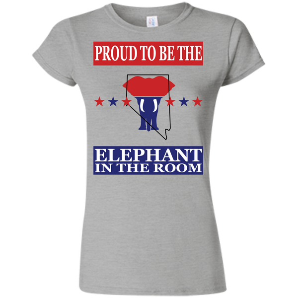 Nevada PROUD Elephant in the Room (Fitted) Ladies' T-shirt