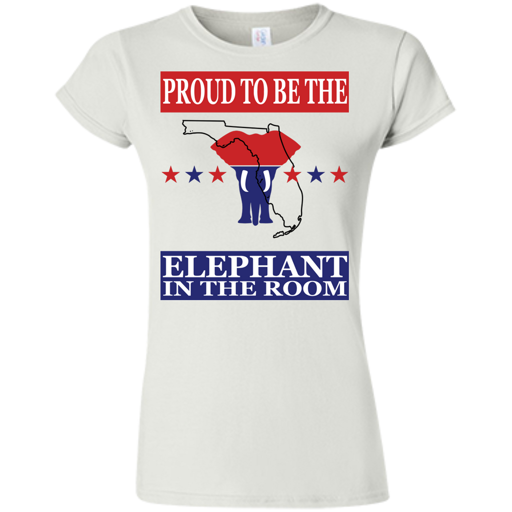 Florida PROUD Elephant in the Room (Fitted) Ladies' T-shirt